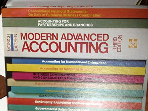 9780070401273: Modern advanced accounting