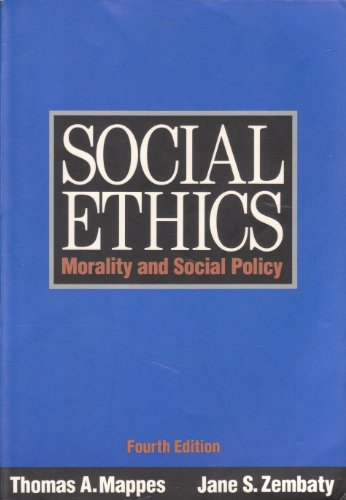 9780070401334: Social Ethics: Morality and Social Policy