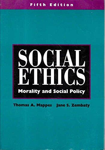 9780070401433: Social Ethics: Morality and Social Policy
