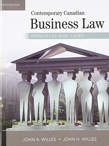 9780070401853: Contemporary Canadian Business Law: Principles and Cases (McGraw-Hill series in psychology)