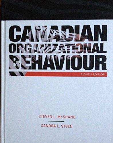 9780070401877: Canadian Organizational Behaviour - 8Th Edition