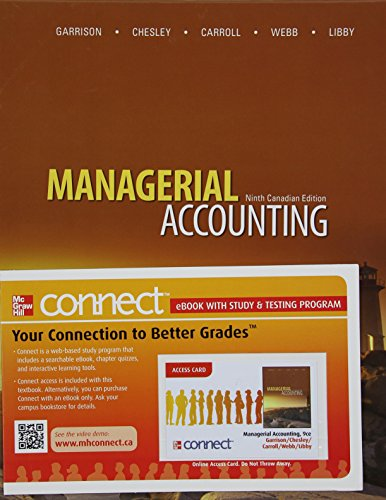 9780070401891: Managerial Accounting, 9th Edition