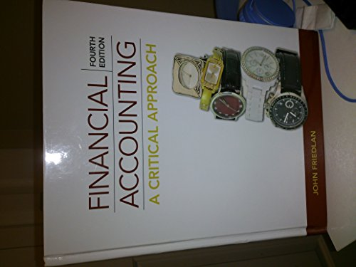 9780070401969: Financial Accounting: A Critical Approach