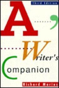 9780070405264: A Writer's Companion