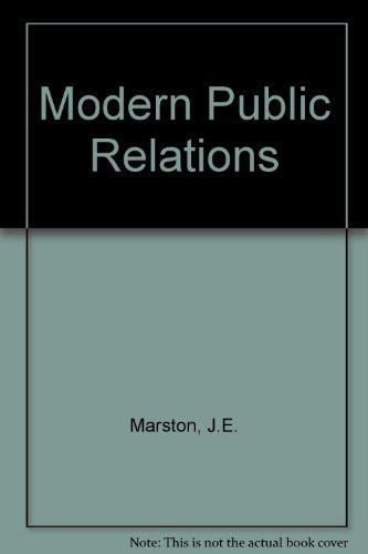 9780070406193: Modern Public Relations