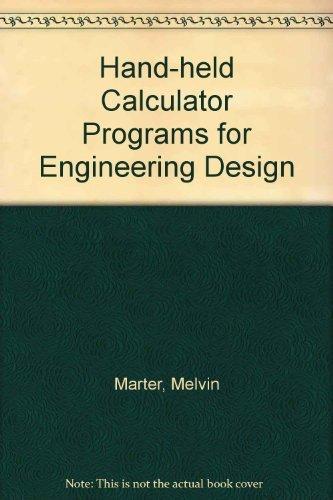 9780070406421: Handheld Calculator Programs for Engineering Design