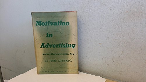 9780070406605: Motivation in Advertising