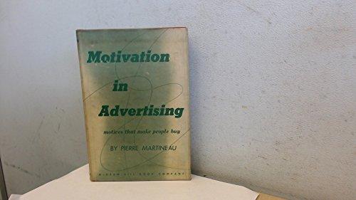 9780070406605: Motivation in Advertising
