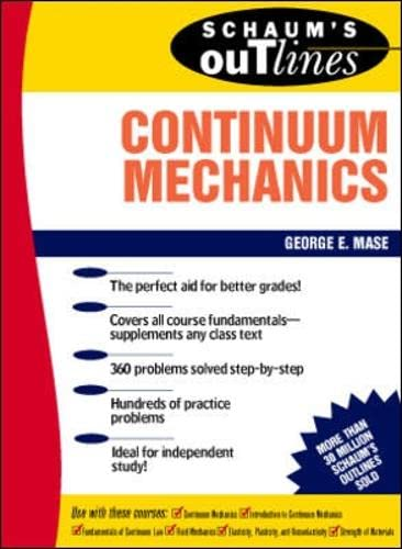 9780070406636: Schaum's Outline of Continuum Mechanics