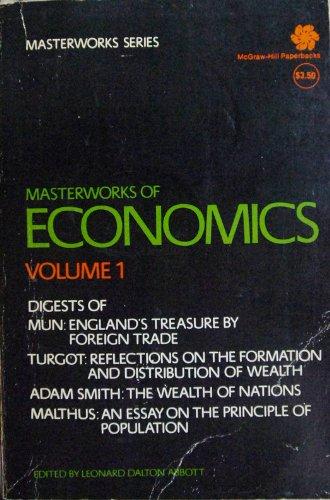 9780070408043: Masterworks Of Economics VOLUME 1 - Mun, Turgot, Adam Smith, Malthus
