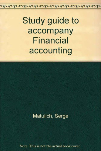 9780070409224: Study guide to accompany Financial accounting