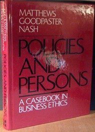 9780070409781: Policies and Persons: A Casebook in Business Ethics