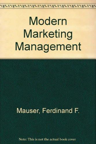 9780070409859: Modern Marketing Management
