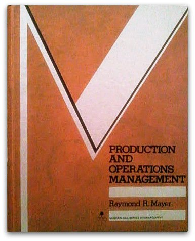 9780070410251: Production and Operations Management (Mcgraw Hill Series in Management)