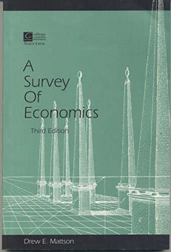 9780070410329: A Survey of economics (College Custom Series)