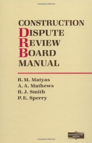 9780070410602: Construction Dispute Review Board Manual