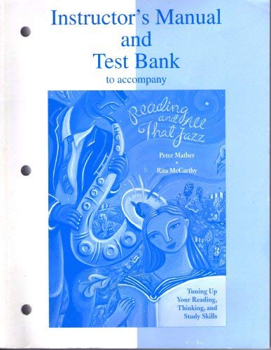 9780070411012: Reading and All That Jazz, Instructor's Manual and Test Bank