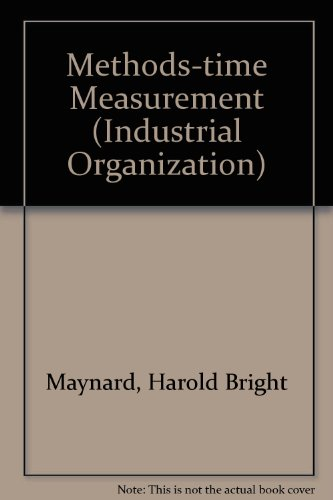 9780070411050: Methods-time Measurement (Industrial Organization)