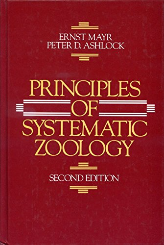 Principles of Systematic Zoology: Ernst Mayr; Peter