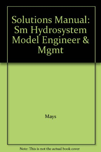 9780070411470: Solutions Manual: Sm Hydrosystem Model Engineer & Mgmt