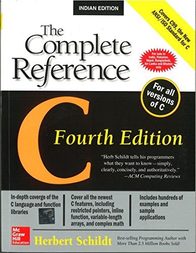 C: The Complete Reference (Fourth Edition)