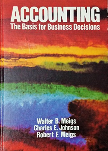 9780070412415: Accounting: The Basis for Business Decisions