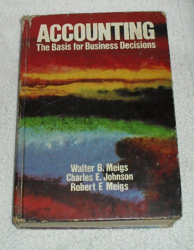 9780070412415: Accounting, the basis for business decisions