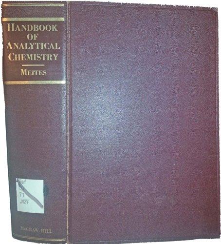 9780070413368: Handbook of Analytical Chemistry