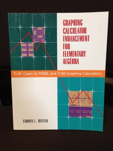 9780070413696: Graphing Calculator Enhancement for Elementary Algebra: Ti-81, Casio Fx-7700G, and Ti-85 Graphing Calculators