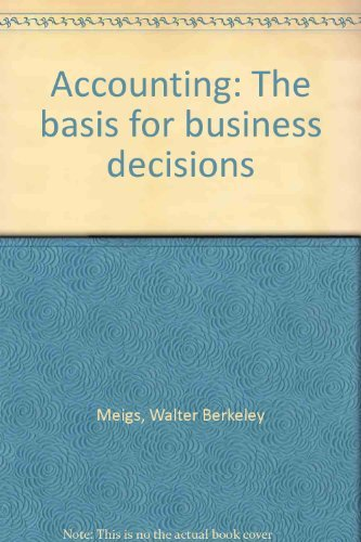 9780070414006: Accounting: The Basis for Business Decisions