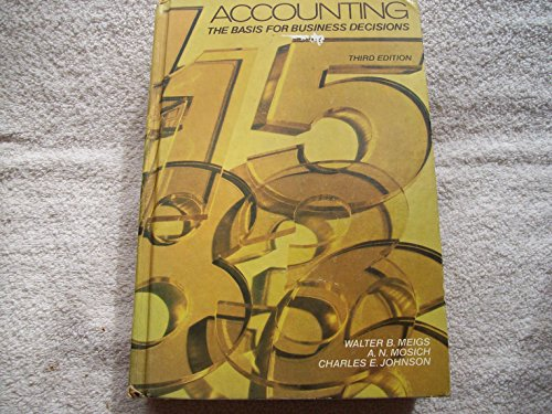 9780070414105: Accounting: The Basis for Business Decisions