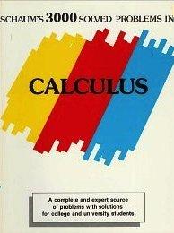 Schaum's 3000 solved problems in calculus (Schaum's: Elliott Mendelson