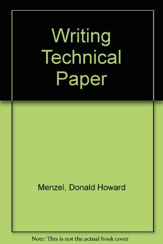 9780070414921: Writing a Technical Paper