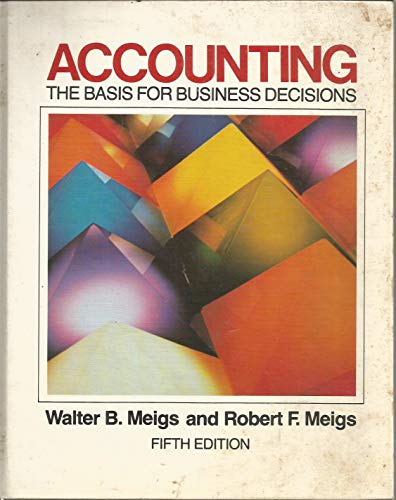 9780070415515: Accounting: The Basis for Business Decisions