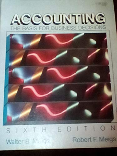 9780070415874: Accounting: The Basis for Business Decisions