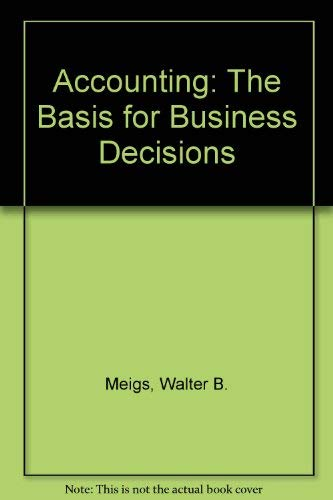 9780070415874: Accounting, the basis for business decisions
