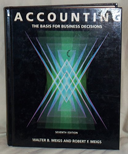 9780070416406: Accounting: The Basis for Business Decisions