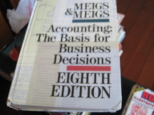 9780070416895: Accounting: The Basis for Business Decisions [Eighth Edition]