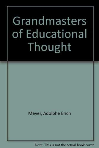 9780070417373: Grandmasters of Educational Thought