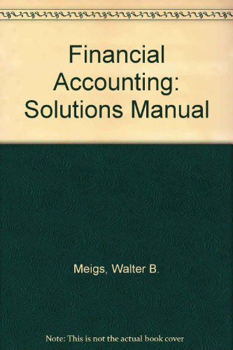 9780070418431: Financial Accounting: Solutions Manual