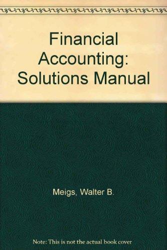 9780070418431: Financial Accounting: Solutions Manual