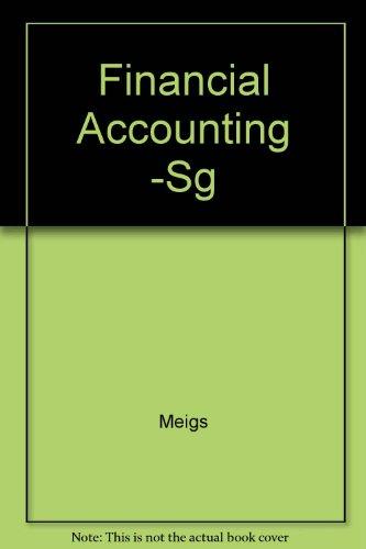 9780070418462: Financial Accounting -Sg