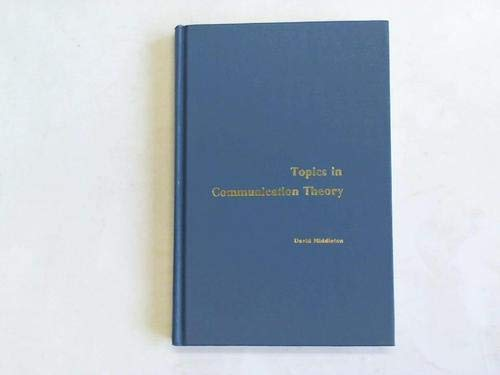 9780070418998: Topics in Communication Theory