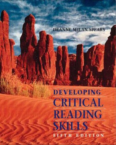 9780070419605: Developing Critical Reading Skills