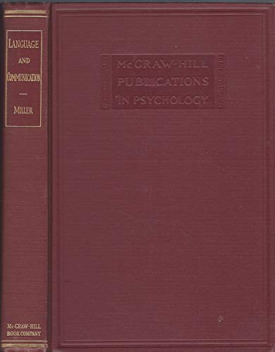 9780070420007: Language and Communication (Psychology)