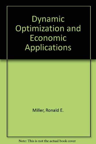 9780070421806: Dynamic Optimization and Economic Applications