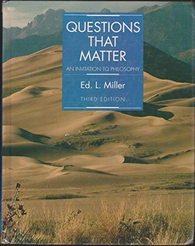 9780070421875: Questions That Matter: An Invitation to Philosophy