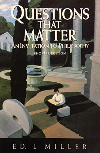 9780070421912: Questions That Matter: An Invitation to Philosophy