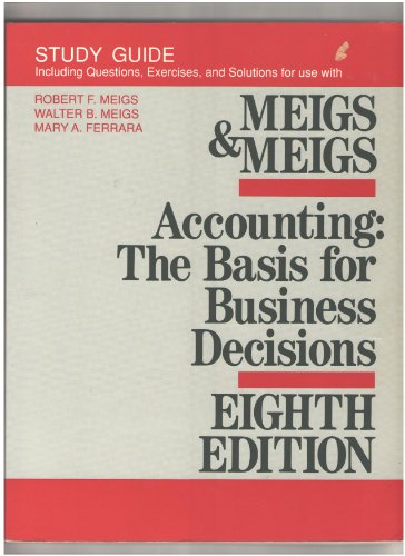 9780070422278: ACCOUNTING: THE BASIS FOR BUSINESS DECISIONS