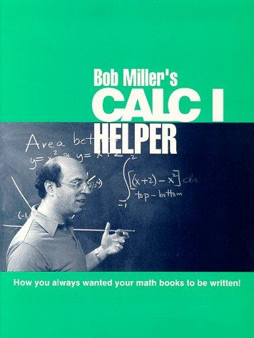 9780070422575: Bob Miller's Calc I Helper